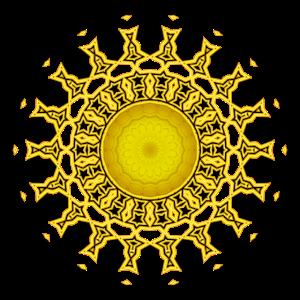 Sonnenstrahlen Mandala