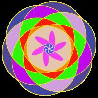 Digital Art Mehrfarbig