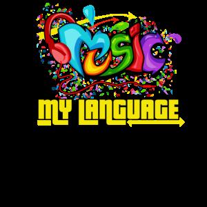 Musik ist meine Sprache Grafitti Geschenk