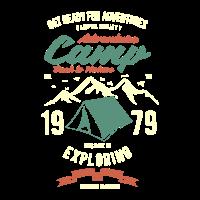 Camping Abenteuer 1979 Entdecken Berge Wanderlust