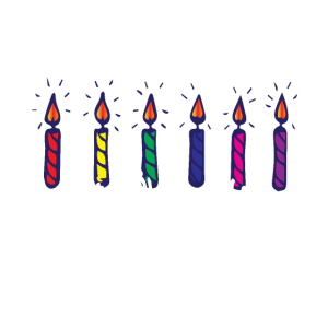 Kerzen Sechs Geburtstagskerzen