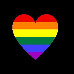 Regenbogen Herz
