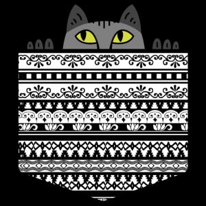 Brusttasche süße Katze maine coon perser Geschenk