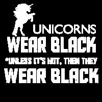 UNICORNS WEAR BLACK UNICORN FAN T-SHIRT PRESENT