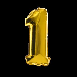 1. Geburtstag für Kinder: goldener Ballon