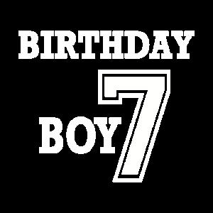 7. Geburtstags Junge