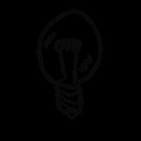 Glühbirne #IDEE (Schwarz)