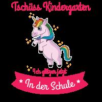 Einschulung Einhorn Tschüss Kindergarten