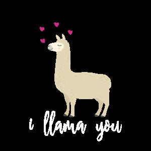 I LLAMA YOU - Lama: Ich liebe dich! Geschenk