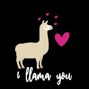 Ich liebe dich - Lama Freundin Partnerin Geschenk
