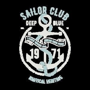 Segel Club Design 1971 Nautic Vintage Anker