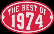 Jahrgang 1970 Geburtstagsshirt: THE BEST OF 1974 2C Birthday Anniversaire Geburtstag