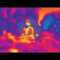 Buddha Esoterik leuchtende Farben