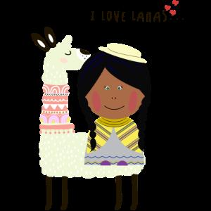 I love Lamas Peru girl