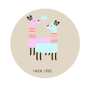 Lama Love Liebe süße Geschenkidee