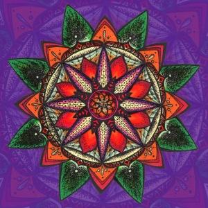 """SoulArt Mandala """"Natur-Erwachen"""""""