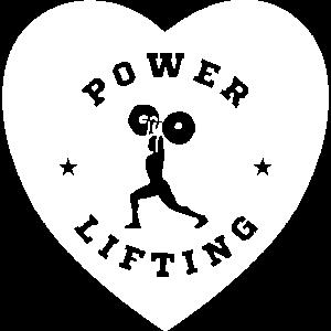Ich liebe Power Lifting Herz
