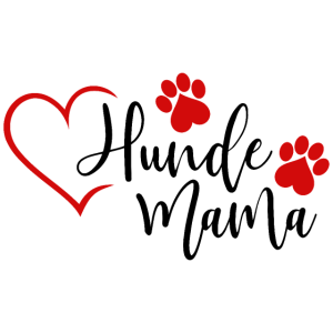 Hundemama Hunde Mama Hund Herz Frauchen Tier rot