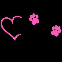 Hundemama Hunde Mama Hund Herz Frauchen Tier pink