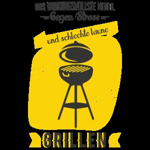 Grill Shirt · Holzkohlegrill · Stress Geschenk