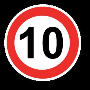 Zahl mit Kreis 10
