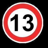 Zahl mit Kreis 14
