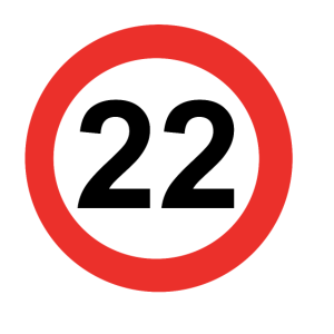 Zahl mit Kreis 22
