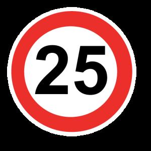 Zahl mit Kreis 25