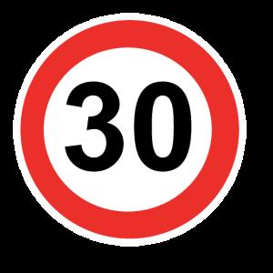 Zahl mit Kreis 30