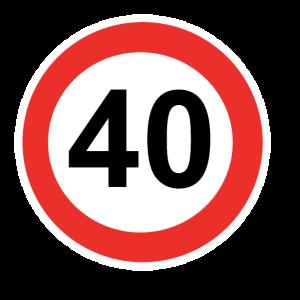 Zahl mit Kreis 40