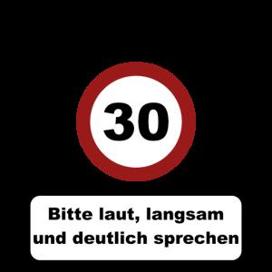 Achtung 30 - 30. Geburtstag - 30er