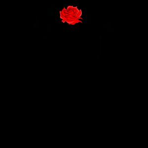 Totenkopf mit Gasmaske und Rose