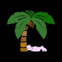 Unter den Palmen im Sommerurlaub