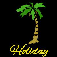 Eine schöne Palme im Sommerurlaub