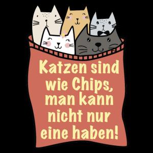 Katzen sind wie Chips