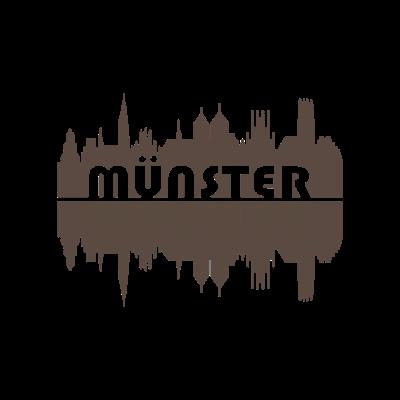 Münster Skyline | Geschenk - Das perfekte T-Shirt für alle Münsteraner! Die Skyline von Münster. Ein super Geschenk. - Geschenkidee,Muenster,Westfalen,Dom Münster,Münster,Skyline Münster,Geschenk,Aasee,NRW,Skyline