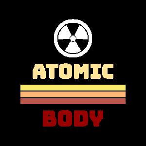 Atomar Atom Körper