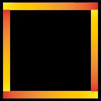 Quadrat Viereck mit Verlauf Form