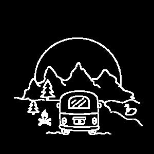 Panorama mountain Camper / Berge, camping, outdoor