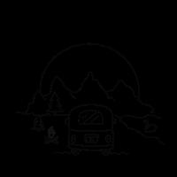 Panorama mountain camper / camping, Berge, outdoor