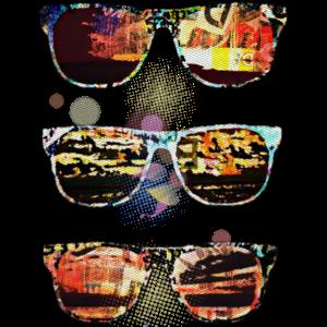 Sonnenbrillen bunt