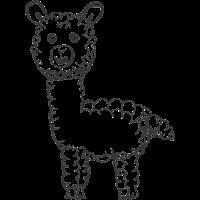 Lama Alpaka Pako Baby Geschenk Idee