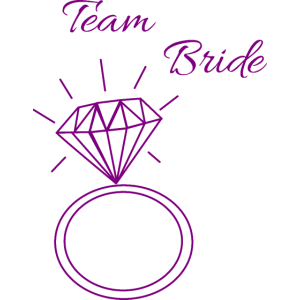 Team Bride - Braut - JGA - Trauzeigin