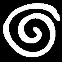 Schlichte Spirale (Weiß)