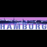 Binnenalster pink + Hamburg-Logo