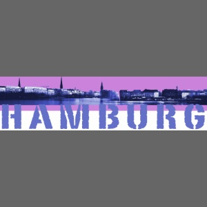 Binnenalster pink Hamburg Logo