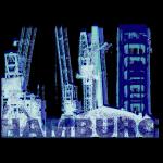 Hamburg Hafen | Siebdruckstil | blauschwarz