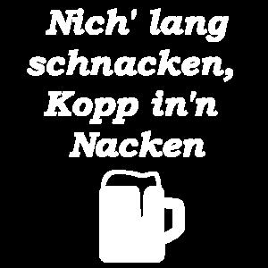 Nich lang schnacken mit bierglas