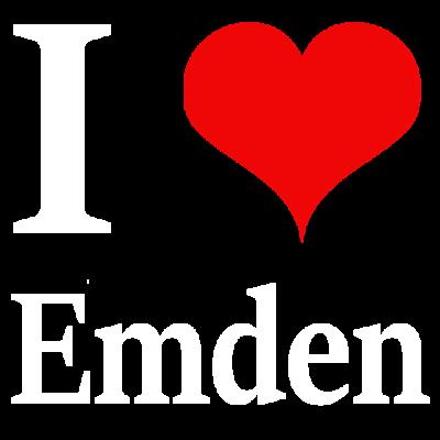 I love Emden - Ich liebe Emden! Ein klares Bekenntnis zu deiner Heimatstadt - Love parade,Schrift,Emden,Love me,Love,Love hurts,Love with heart,Lovestruck,Loved,Heimatstadt,Heimat,Ostfriesland,Schriftzug,Schriftzeichen