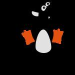 Wasserratte mit Schwimmflügeln